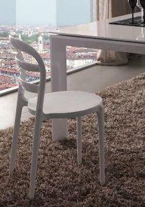 WHITE LABEL - chaise dejavu design blanc - Chaise
