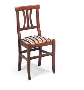 WHITE LABEL - chaise vecchio vaneto design noyer assise en velou - Chaise