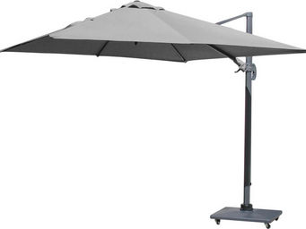 PROLOISIRS - parasol déporté carré 3 mètres gris - Parasol