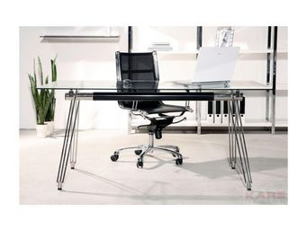 Kare Design - bureau en verre officia 160x80 cm - Bureau