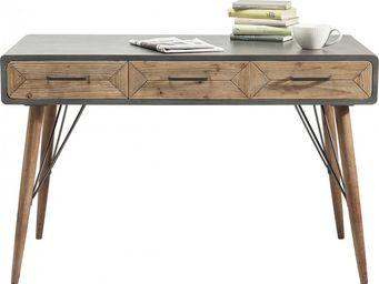 Kare Design - bureau en bois x factory 3 tiroirs - Bureau