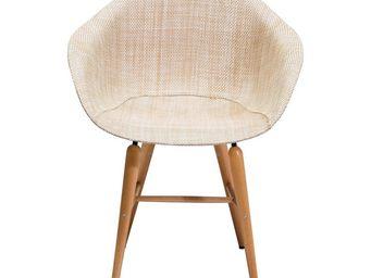 Kare Design - chaise avec accoudoirs forum naturel - Chaise