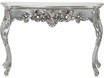 Kare Design - console baroque ornament argent antique grande - Console