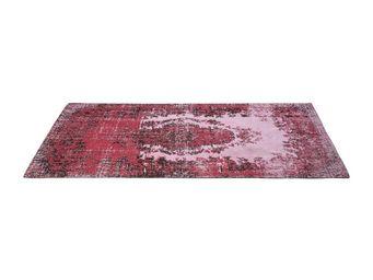 Kare Design - tapis vintage kelim pop rose 240x170 - Tapis Contemporain