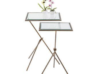 Kare Design - tables d appoint knit visible 2/set - Tables Gigognes