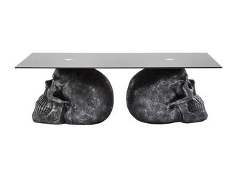 Kare Design - table basse skull rockstar by geiss 120x60 cm - Table Basse Rectangulaire