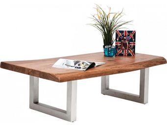 Kare Design - table basse en bois nature line - Table Basse Rectangulaire