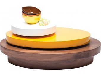 Kare Design - table basse ronde horizon 90x65 cm - Table Basse Ronde