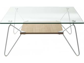 Kare Design - table basse carrée slope triangle 80x80cm - Table Basse Carrée