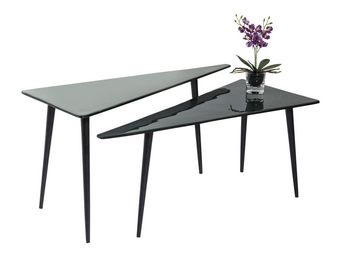 Kare Design - tables basses la costa triangle 2/set - Table Basse Forme Originale
