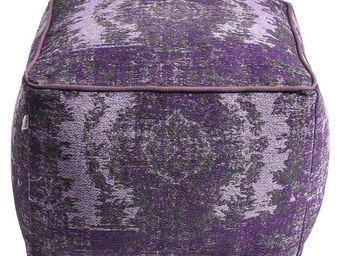 Kare Design - pouf kelim pop violet - Pouf