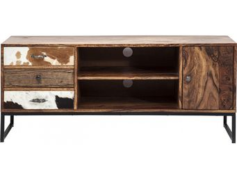 Kare Design - meuble tv en bois rodeo 3 tiroirs 2 portes - Meuble Tv Hi Fi