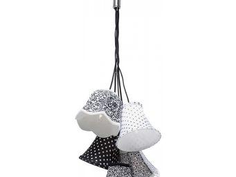 Kare Design - suspension saloon ornament noir & blanc 5 - Suspension