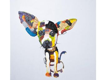 Kare Design - peinture à l huile chihuahua 100x100 - Tableau Décoratif