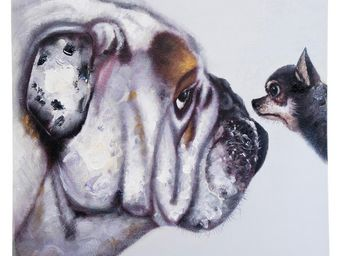 Kare Design - peinture � l huile face to face 80x80cm - Tableau D�coratif