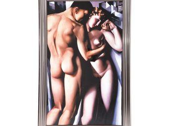 Kare Design - tableau frame adam et eve 140x90 - Tableau Décoratif