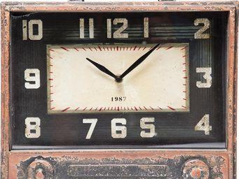 Kare Design - horloge de table radio storage - Horloge À Poser