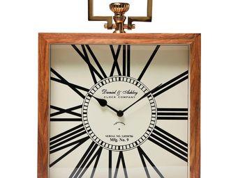 Kare Design - horloge de table grandfather bois 45 cm - Horloge À Poser