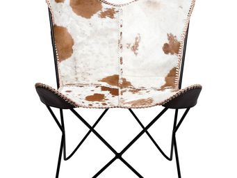 Kare Design - fauteuil butterfly fur - Fauteuil
