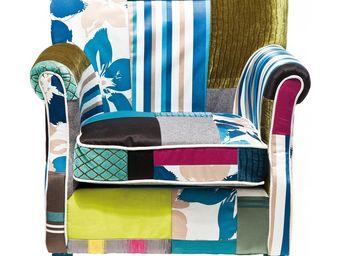 Kare Design - fauteuil patchwork stripes - Fauteuil