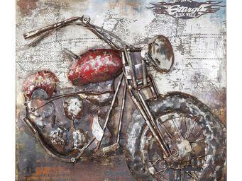Kare Design - tableau iron motorbike 100x100 - Tableau Décoratif