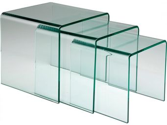 Kare Design - tables d appoint clear club gigognes 3/set - Tables Gigognes