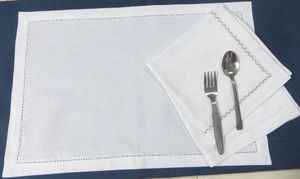 ITI  - Indian Textile Innovation - solid with hemstitch - Set De Table