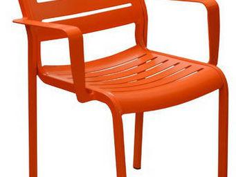 PROLOISIRS - fauteuil design belhara (lot de 2) mandarine - Fauteuil De Jardin