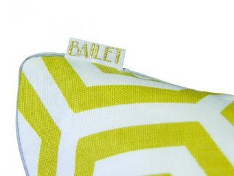 BAILET - coussin déco graphique - 30x50 cm - jaune safran  - Coussin Rectangulaire