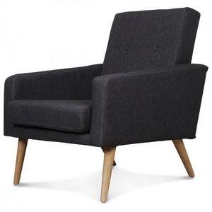 Demeure et Jardin - fauteuil design scandinave moderne gris anthracite - Fauteuil