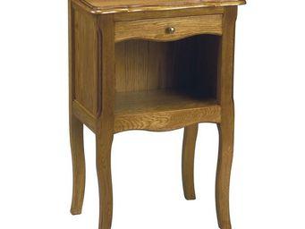 WHITE LABEL - table de chevet 1 tiroir - geronde - l 43 x l 30 x - Table De Chevet