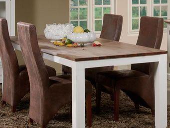 WHITE LABEL - table de repas 220 cm - rio - l 220 x l 100 x h 78 - Table De Repas Rectangulaire