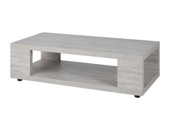 WHITE LABEL - table basse gris cendré - jacco - l 120 x l 60 x h - Table Basse Rectangulaire