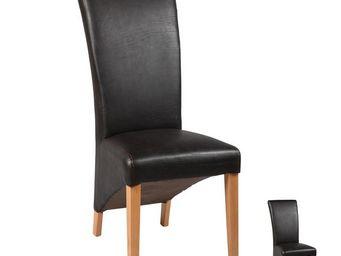 WHITE LABEL - duo de chaises noires - nero - l 49 x l 65 x h 110 - Chaise