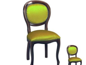 TOUSMESMEUBLES - duo de chaises m�daillon r�gence or - rigo - l 46  - Chaise M�daillon