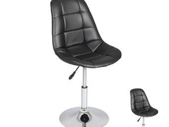 WHITE LABEL - duo de chaises réglables noir - enzo - l 49 x l 45 - Chaise