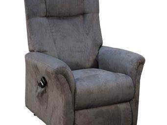 WHITE LABEL - fauteuil releveur 2 moteurs gris - liberty - l 80  - Fauteuil