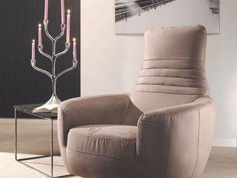 WHITE LABEL - fauteuil contemporain - britta - l 88 x l 92 x h 1 - Fauteuil