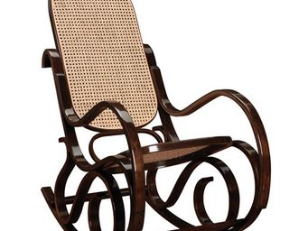 WHITE LABEL - rocking chair teinte noyer - country - l 53,5 x l  - Rocking Chair