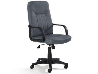 WHITE LABEL - fauteuil de bureau lead similicuir gris - Fauteuil De Bureau