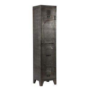 WHITE LABEL - armoire ferro en acier - Colonne De Rangement