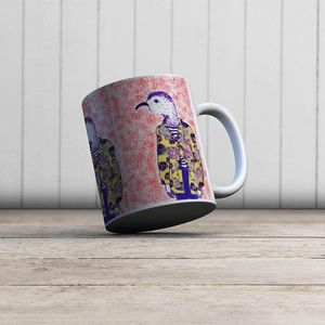 la Magie dans l'Image - mug mon petit oiseau fond orange - Mug
