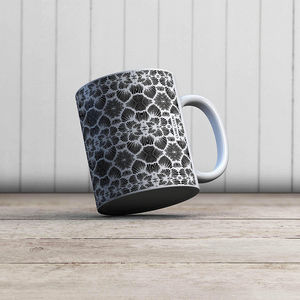 la Magie dans l'Image - mug réseau floral blanc - Mug