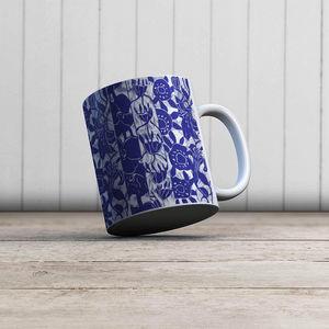 la Magie dans l'Image - mug végétal bleu blanc - Mug