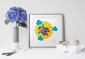 la Magie dans l'Image - print art héros superman - Tableau Décoratif