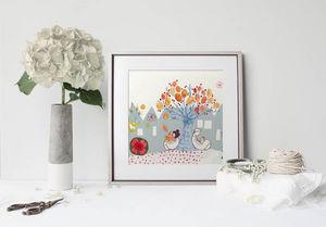 la Magie dans l'Image - print art un couple sous un arbre - Poster