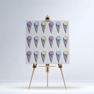 la Magie dans l'Image - toile glace pastel - Impression Numérique Sur Toile