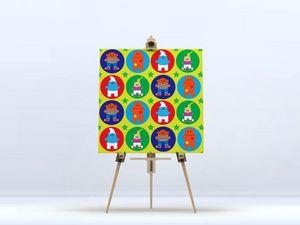la Magie dans l'Image - toile héros pattern vert - Impression Numérique Sur Toile