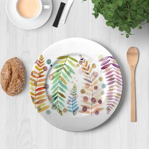 la Magie dans l'Image - assiette feuilles - Assiette De Présentation