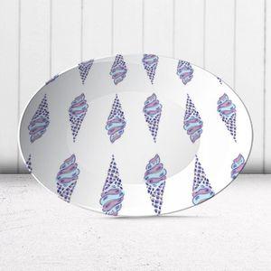 la Magie dans l'Image - assiette glaces bleu mauve - Assiette De Présentation